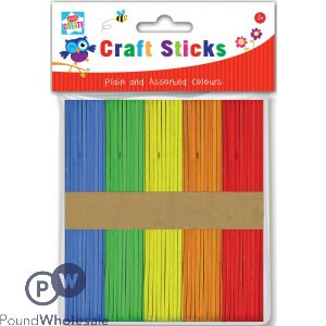 KIDS CREATE CRAFT LOLLY STICKS