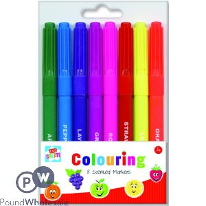 KIDS CREATE 8 COLOURING SCENTED MARKERS
