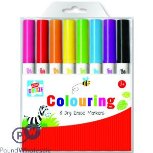 KIDS CREATE 8 WASHABLE COLOURING MARKERS
