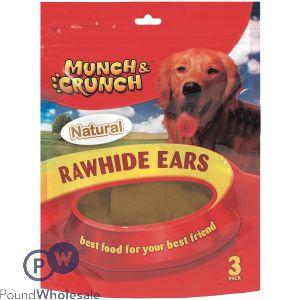 MUNCH & CRUNCH NATURAL RAWHIDE EARS