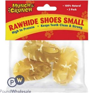 MUNCH & CRUNCH RAWHIDE MINI SHOES SMALL 3 PACK