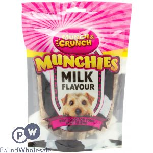 MUNCH & CRUNCH MUNCHIES MILK FLAVOUR 250G