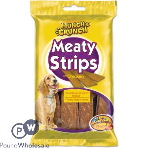 MUNCH & CRUNCH MEATY STRIPS CHICKEN 18 PACK