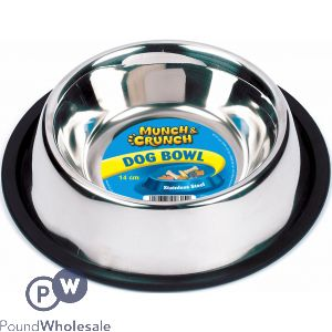 ANTI SKID METAL DOG BOWL 14CM
