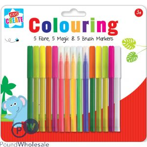 KIDS CREATE 15 COLOURING MARKERS SET