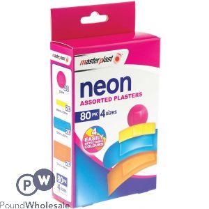 MASTERPLAST NEON PLASTERS 80 PACK
