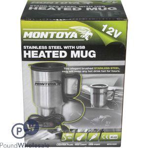 MONTOYA STAINLESS STEEL USB HEATED MUG