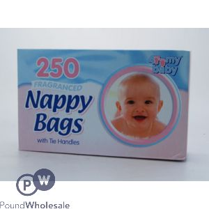 FRAGRANCED NAPPY BAGS WITH TIE HANDLES 200 PACK