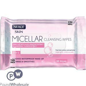 NUAGE MICELLAR CLEANSING WIPES