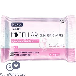 NUAGE MICELLAR CLEANSING 30 WIPES TWIN PACK
