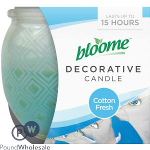 BLOOME DECORATIVE CANDLE COTTON FRESH