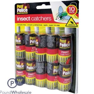 PEST POLICE INSECT CATCHERS 10 PACK