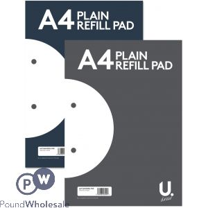 A4 PLAIN REFILL PAD 2 ASSORTED COLOURS