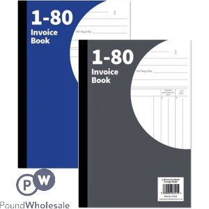 INVOICE BOOK 1-80 PAGES 2 ASSORTED COLOURS