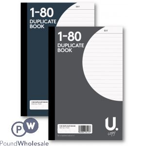 DUPLICATE BOOK 1-80 PAGES 2 ASSORTED COLOURS