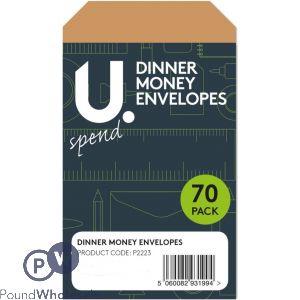 70 PACK DINNER MONEY ENVELOPES