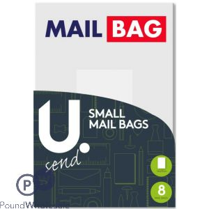 SMALL MAIL BAGS PACK OF 8 16 X 23CM