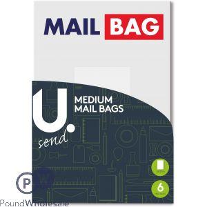 U. MEDIUM MAIL BAGS 24 X 32CM 6 PACK
