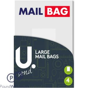 LARGE MAIL BAGS PACK OF 4 32 X 44CM
