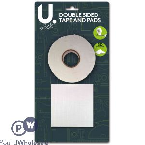 DOUBLE SIDED TAPE 1.8cm x 4m  AND 320 STICKY PADS