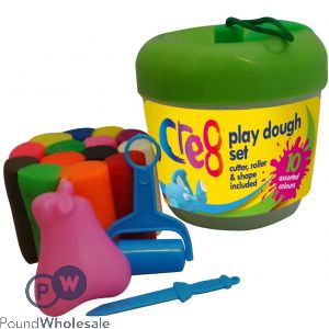 APPLE SHAPE PLAY DOUGH SET 18PC SET