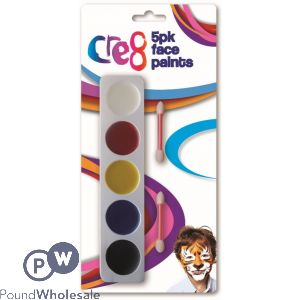 5PK FACE PAINTS