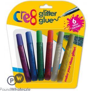 6PK GLITTER GLUE