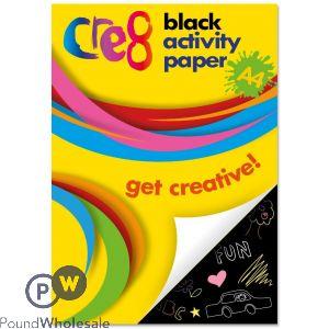 CRE8 A4 BLACK ACTIVITY PAPER