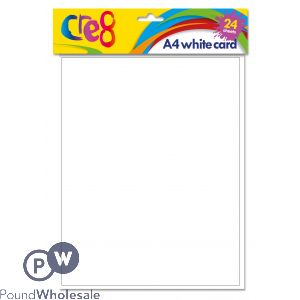 CRE8 A4 WHITE PRINTING CARD 150GSM 24 PACK