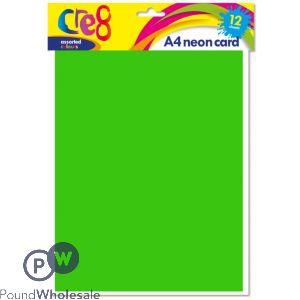 A4 NEON CARD 12PK