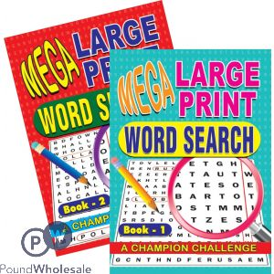 MEGA LARGE PRINT WORD SEARCH (NO VAT)