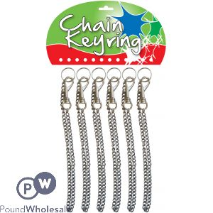 CHAIN KEYRING ON CARD 12PC (EACH PRICE 39P)