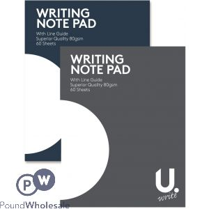 U. LINED PAPER 80GSM 60 SHEETS WRITING PAD