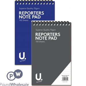 "REPORTERS PAD 5""X8"" 70GSM 2 ASSORTED COLOURS"
