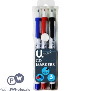 3PK CD MARKERS