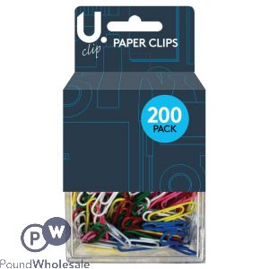 200 PAPER CLIPS ASSORTED COLOURS