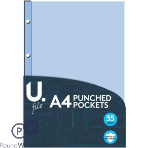 U. A4 PUNCH POCKETS 35 PACK