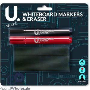 U. WHITEBOARD MARKERS & ERASER SET