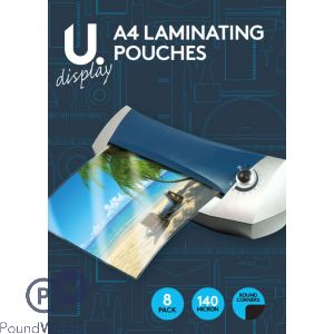A4 LAMINATING POUCHES 8PK