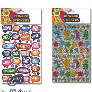 REWARD STICKERS ASSORTED DESIGNS