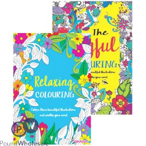 ADULT COLOURING BOOK (NO VAT) 1&2 2 ASSORTED DESIGNS