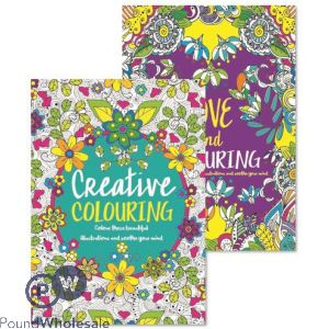 ADULT COLOURING BOOK  3&4 2 ASSORTED DESIGNS