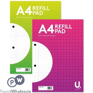 A4 REFILL PAD 2 ASSORTED BRIGHT COLOURS