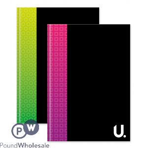 A4 HARDBACK NOTEBOOK 2 ASSORTED BRIGHT COLOURS