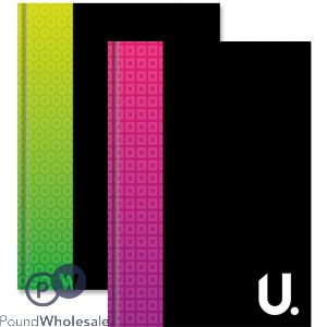 A6 HARDBACK BOOK 2 ASSORTED BRIGHT COLOURS (2 PACK)