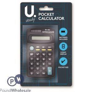 BLACK POCKET CALCULATOR