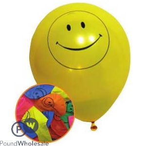 SMILEY BALLOONS 12 PACK