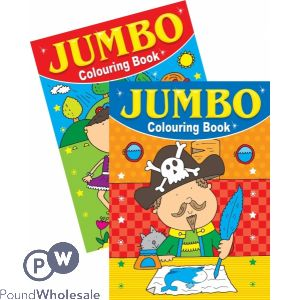JUMBO COLOURING BOOK 2 DESIGNS (NO VAT)