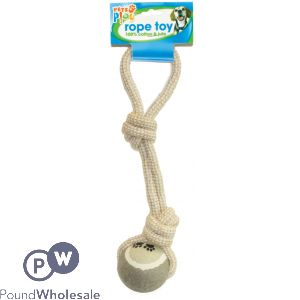 PETS PLAY ROPE TOY & JUTE