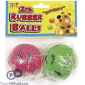 PETS PLAY RUBBER BALLS 2PK
